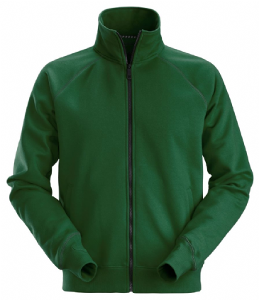 Snickers 2886 AllroundWork Full Zip Sweatshirt Jacket (Forest Green)